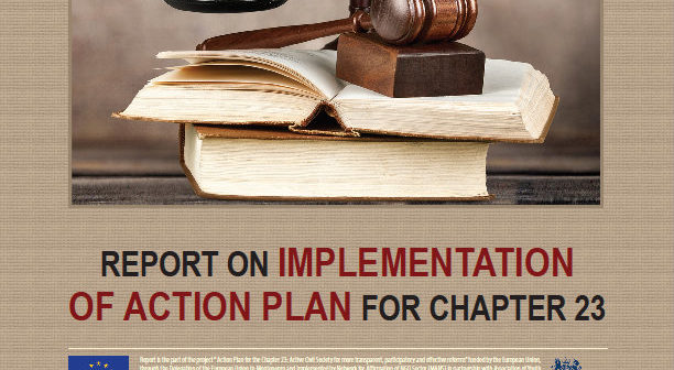 Report on implementation of Action plan for chapter 23